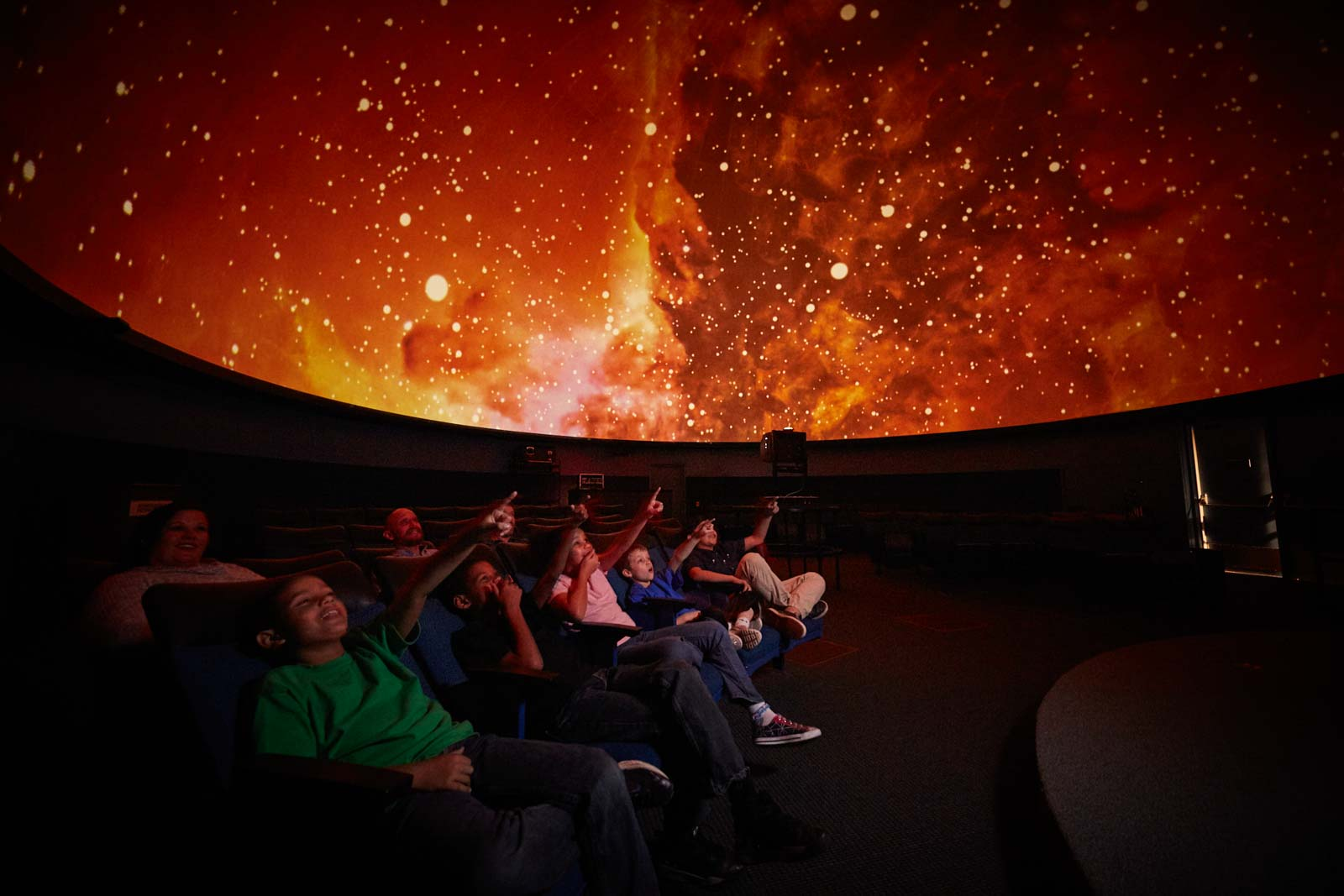 Kids in planetarium