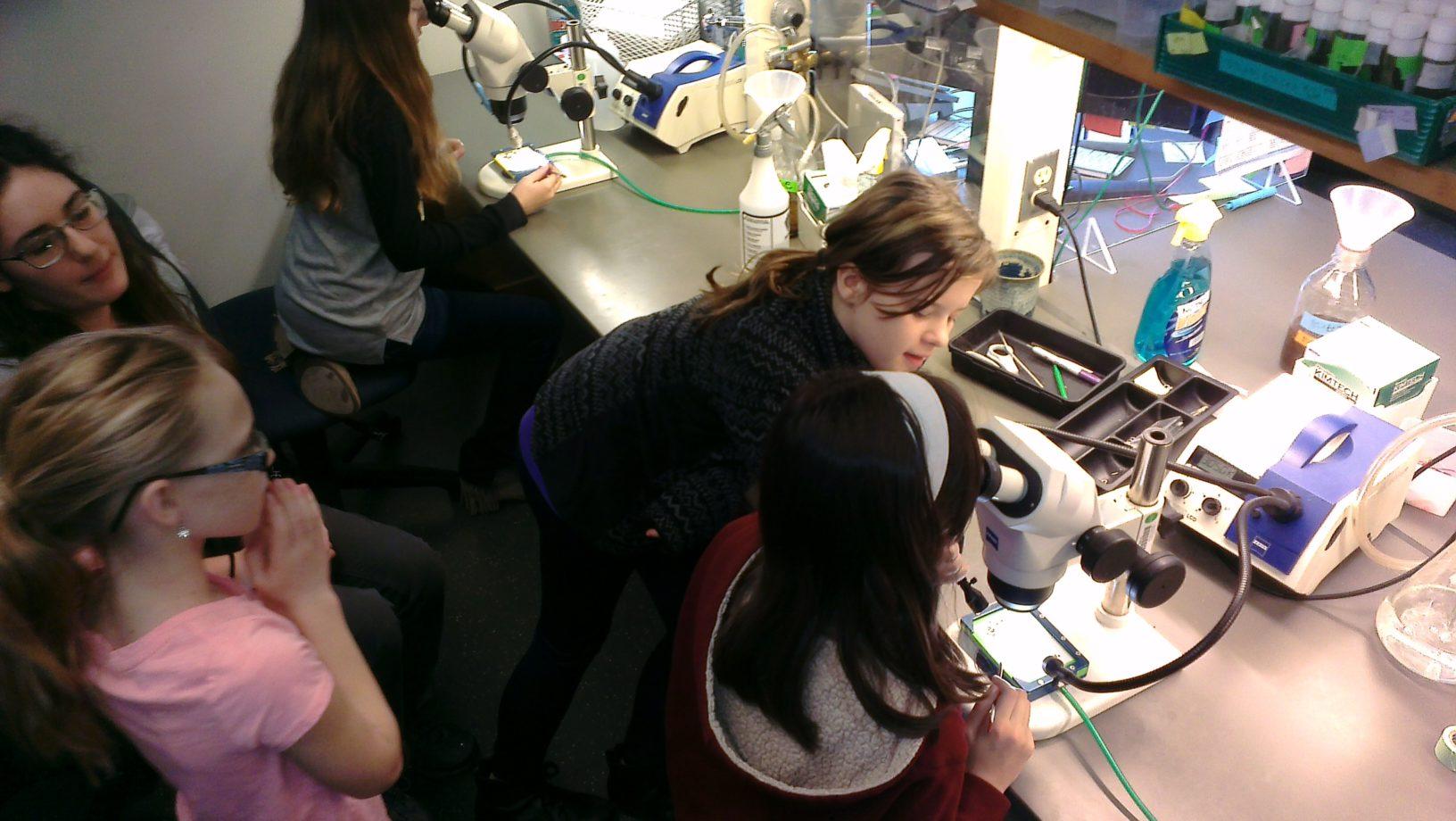 Girls Microscopes