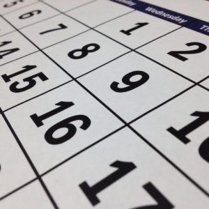 Stock calendar image