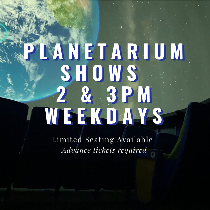 Planetarium Open on Weekdays